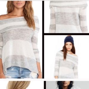Free People Cowl neck/Off the Shoulder Sweater
